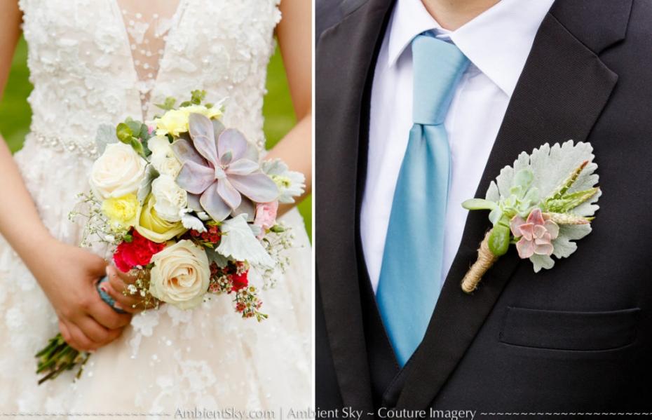 Bride Bouquet Groom Boutonniere