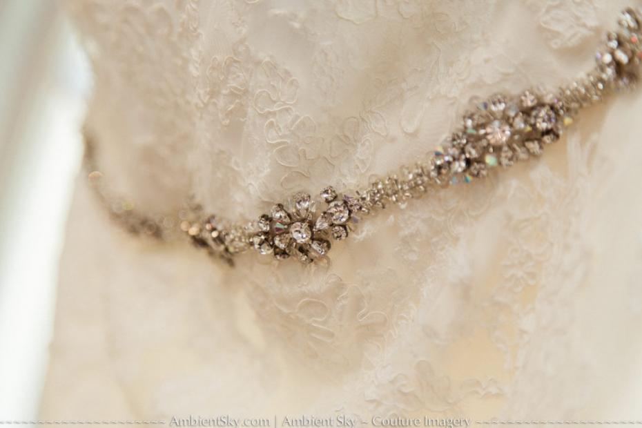 Lace Wedding Dress bling Detail