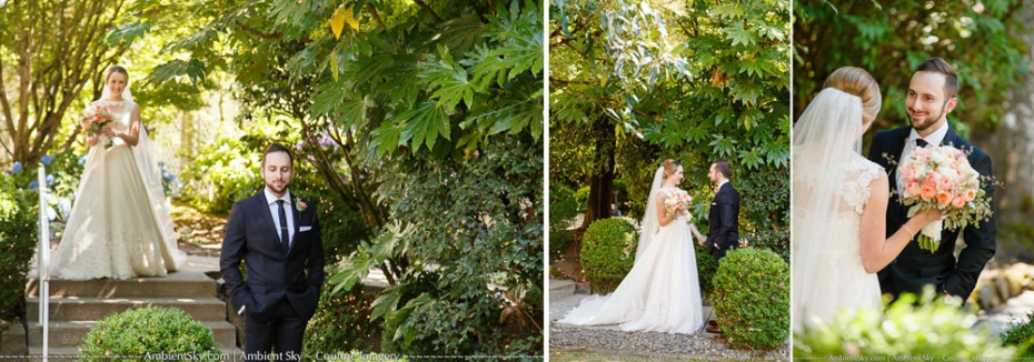 Portland Wedding Photography First Look Bride and Groom