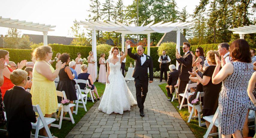 aerie wedding ceremony exit celebration