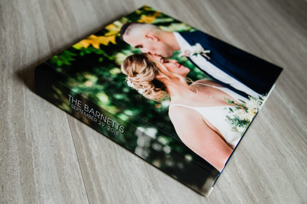 Wedding album heirloom artwork
