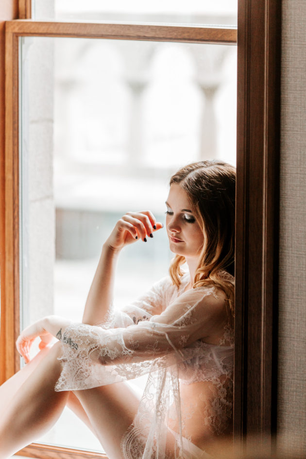 Portland Wedding Day Boudoir Photography