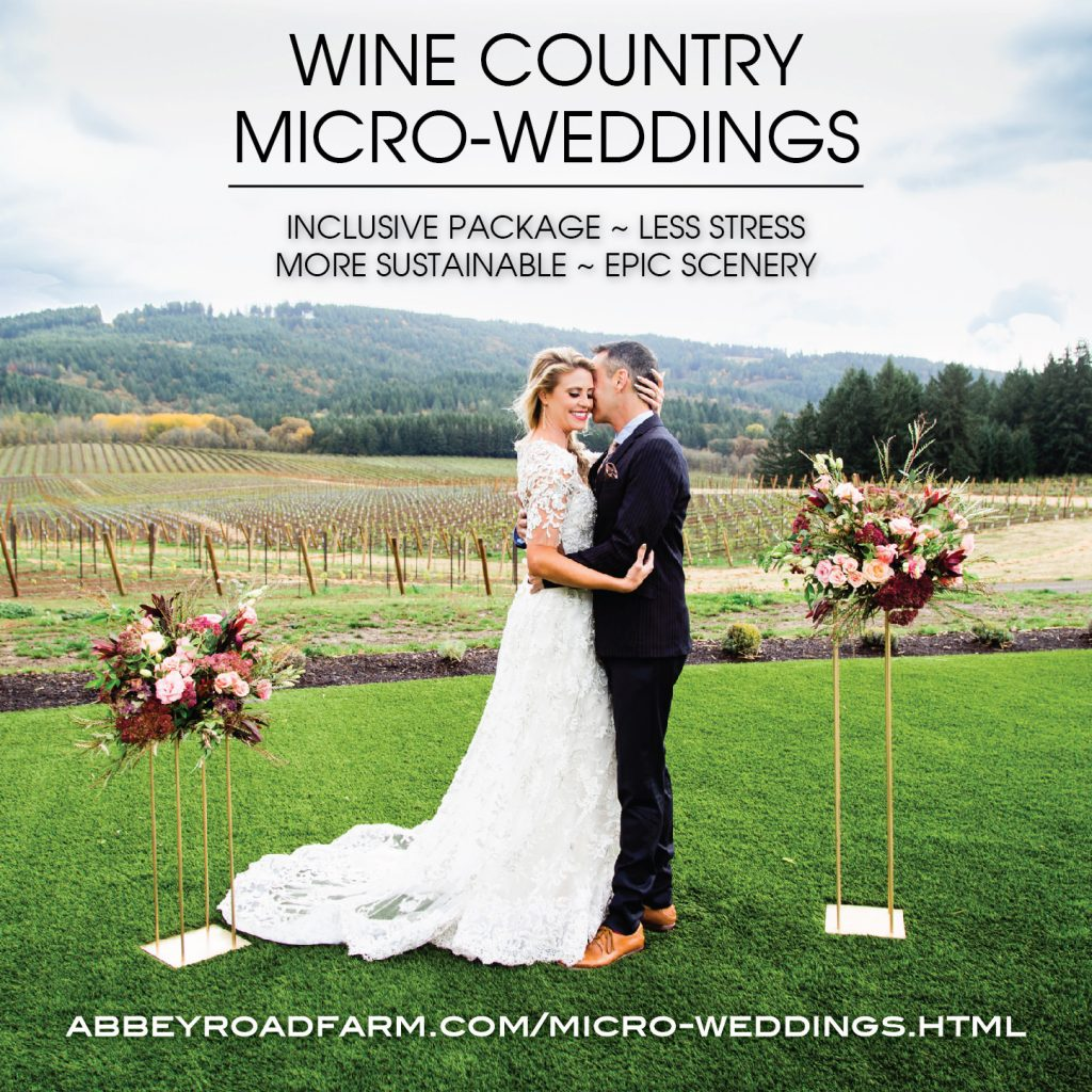oregon micro wedding package